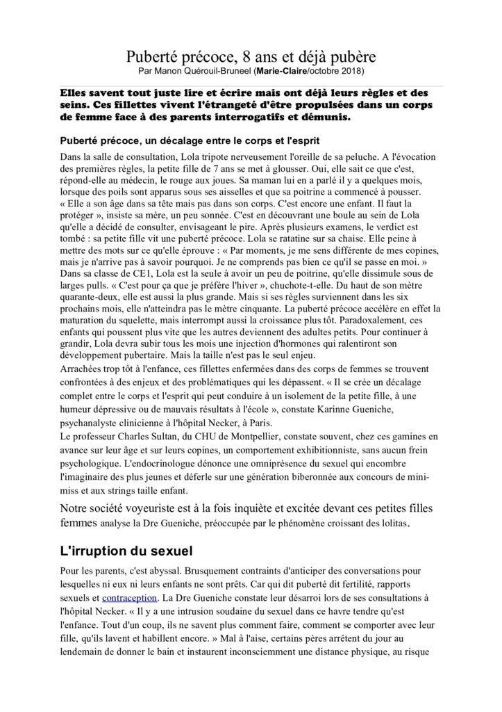 thumbnail of Puberté précoce article véronique